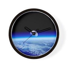 Moon rising over Earth's horizon - Wall Clock