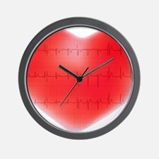 Heart and ECG - Wall Clock
