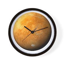 Mars, composite satellite image - Wall Clock