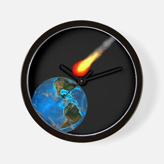 Meteor impact, computer artwork - Wall Clock