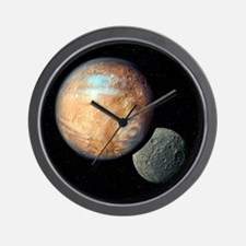 Pluto and Charon - Wall Clock