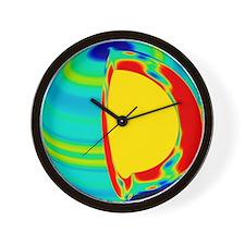 te with depth - Wall Clock