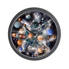 Solar system planets - Wall Clock