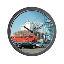 Container ship - Wall Clock