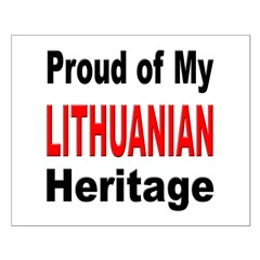 Proud Lithuanian Heritage Posters