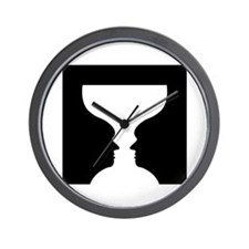 Goblet illusion - Wall Clock