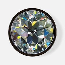 Cut and polished diamond - Wall Clock