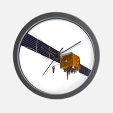 GPS satellite, artwork - Wall Clock