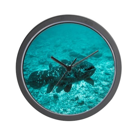 Coelacanth fish wall clock by sciencephotos for Fish wall clock