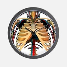 Heart-lung system, artwork - Wall Clock