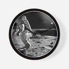 Apollo 12 astronaut on the Moon - Wall Clock