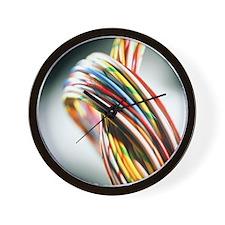 Computer cables - Wall Clock