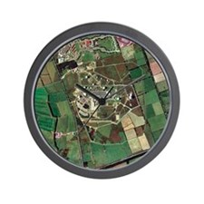 Menwith Hill spy base, aerial image - Wall Clock