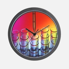 Laboratory glassware - Wall Clock