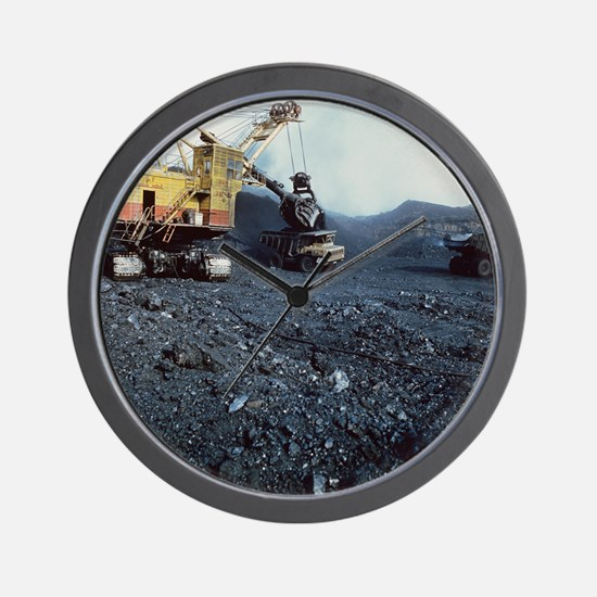Open cast coal mining - Wall Clock
