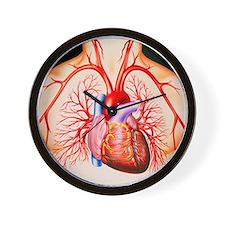 Human heart, artwork - Wall Clock
