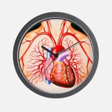 Human heart, artwork - Wall Clock