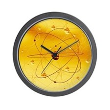 Atomic structure, artwork - Wall Clock