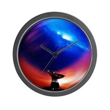 Spacecraft tracking antenna - Wall Clock