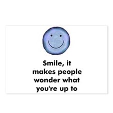 Smile, it makes people wonder Postcards (Package o