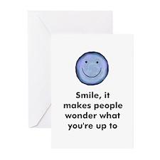 Smile, it makes people wonder Greeting Cards (Pack