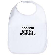 Codfish Ate My Homework Bib