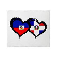 Haiti X Dominican Republic Throw Blanket