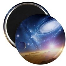 Colliding galaxies, artwork - Magnet