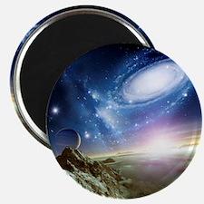 Colliding galaxies, artwork - Magnet