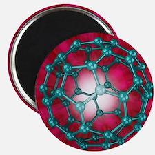 Buckminsterfullerene molecule, artwork - Magnet