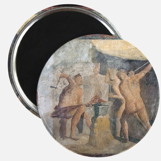 Forge of Hephaistos, Roman fresco - Magnet