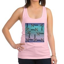 Blue Pisces, Sign of the Zodiac Racerback Tank Top