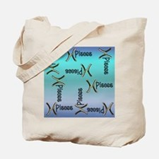 Blue Pisces, Sign of the Zodiac Tote Bag