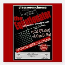 Equationator Classroom Cinema Square Car Magnet 3""