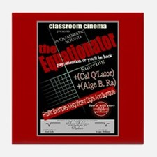 Equationator Classroom Cinema Tile Coaster