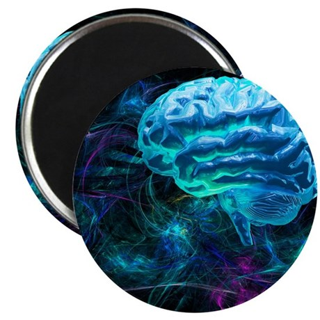 Brain research, conceptual artwork - Magnet