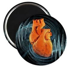 Heartbeat, conceptual artwork - Magnet