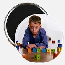 Autistic boy - Magnet
