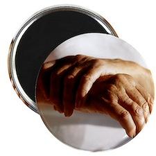 Elderly woman with osteoarthritis - Magnet