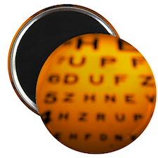 Blurred view of a Snellen eye test chart - Magnet