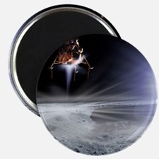 Apollo 11 Moon landing, computer artwork - Magnet
