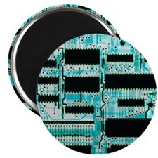 Circuit board with microprocessors, etc - Magnet