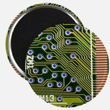 Macrophotograph of printed circuit board - Magnet