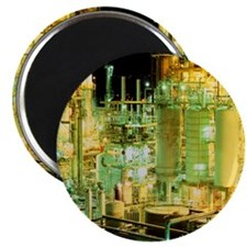 Oil refinery at night - Magnet