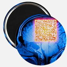 Brain MRI scan with Alzheimer's QR code - 2.25