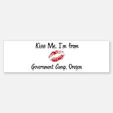 Government Camp - Kiss Me Bumper Bumper Bumper Sticker