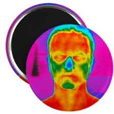 Thermogram of a man's head and shoulders - 2.25