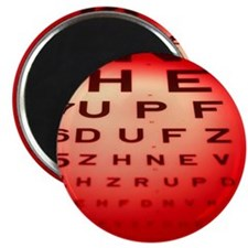 View of a Snellen eye test chart - 2.25