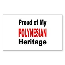 Proud Polynesian Heritage Rectangle Decal