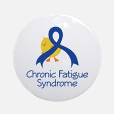 Chronic Fatigue Syndrome Chick Ornament (Round)